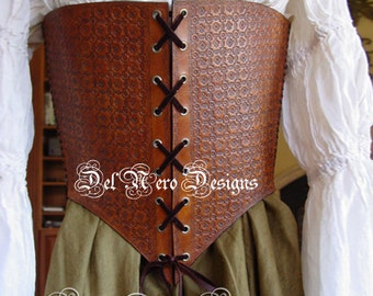 Medieval Leather Steampunk Corset