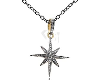 Diamond star pendant etsy pave diamond pendant pave star charm pendant diamond star charm pendant dbds aloadofball Image collections