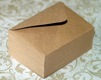 Kraft Envelopes (25) . A1 4 Bar Envelopes Grocery Bag Brown Stationery Recycled Kraft Blank Cards Invitation Straight Flaps or Euro Flaps