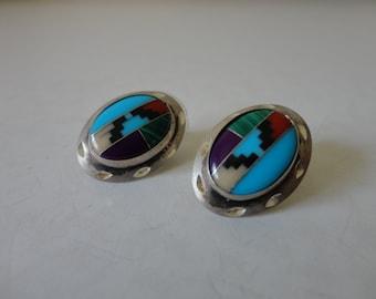 VINTAGE sterling silver SOUTHWESTERN style post EARRINGS