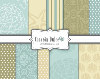 Digital Scrapbook paper 2 Clip Art for Personal and Commercial Use