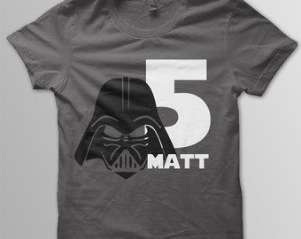 Star Wars Birthday Shirt Disney shirt kids Darth Vader shirt kids Disney t-shirt