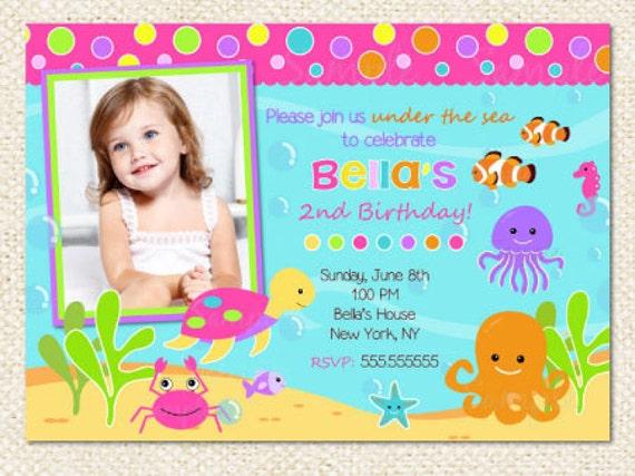 Under the sea birthday invitations under the sea invitations stopboris Images