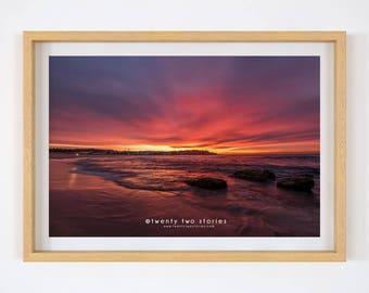 Dressed In Pink - Bondi Beach Sunrise, Australia.