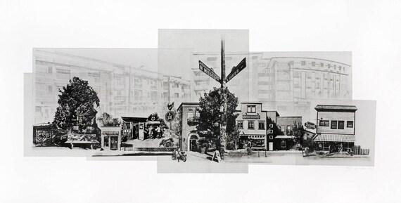 Portland Fine Art - Original Art - Photographic Etching - Print - Photography - The Historic Mississippi District - Oregon - Photogravure