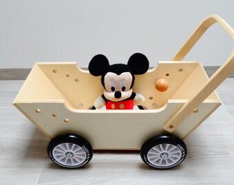 Baby walker, wheelbarrow, small truck - Wooden Toy
