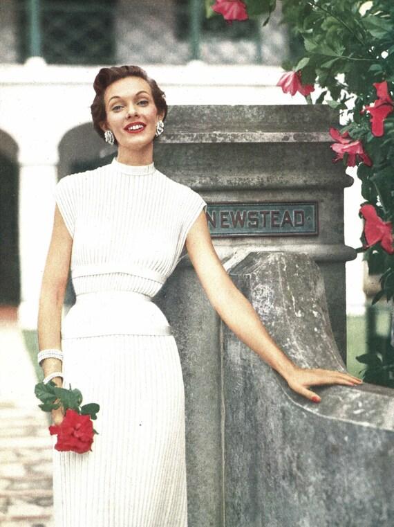 Queen of Newstead • 1950s Wedding Bridal Knitting Dress • 50s ...