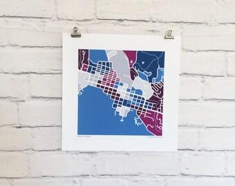 Aspen Colorado Map Print