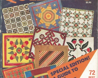 Quilting Book, Vintage, McCall's Super-Book of Quilting, 72 Designs To Patch, Applique', Quilt Diagrams, Actual Size Patterns, FREE SHIPPING