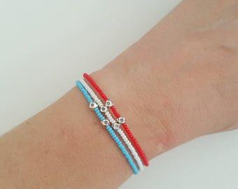Beaded Bracelet, Seed Bead Bracelet, Friendship Bracelet, Bridesmaid Gift, Minimal Bracelet, Tiny Bracelet, Gift for her,  Boho Bracelet,