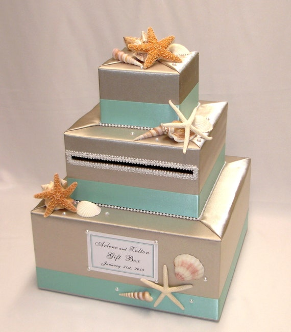 Wedding Card Boxes For Receptions: Elegant Custom Made Wedding Card Box BEACH Theme