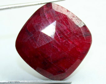 22x22 mm  Ruby Faceted Cut,Cushion  Shape,Precious Stones,Ruby Loose Gemstone  Rose Cut ,Natural Ruby