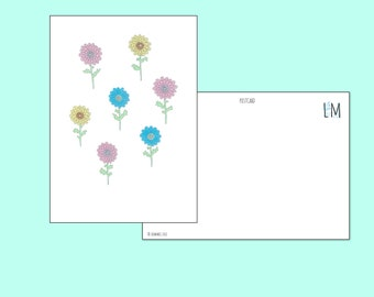 Postcard Colourful Flowers