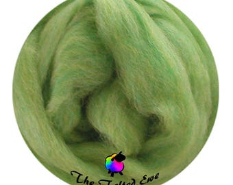 Needle Felting Wool Roving / ES10 Woodland Fern Carded Wool Sliver