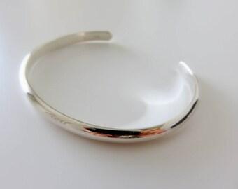 Simple Bangle, silver bangle,