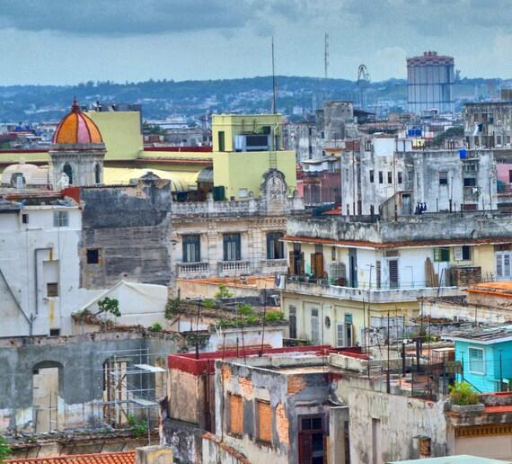 A bird's eye view of Havana Centre Cuba (PR) (canvas)