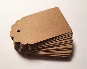 Die Cut, Hang Tags, Kraft Blank Tags, Boutique Tag, Gift Tag, Retail Tag, 65 lb Card Stock CP-2006