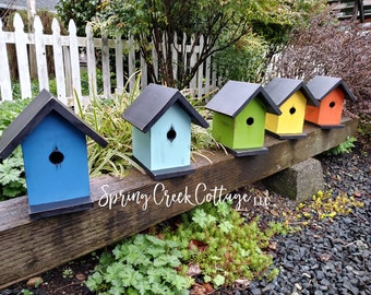 Nest Boxes, Bird Houses, Handmade, Garden Decor, Birdwatching, Bird Feeder, Outdoor And Gardening, Home And Garden, Mothers Day Gift, Rustic