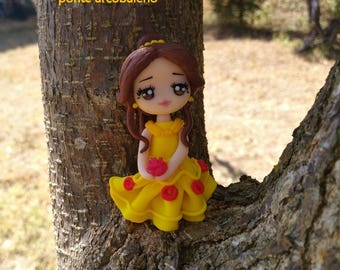 Princess Belle necklace/ fan art /clay doll/ handmade/ polymer clay/ princess/ gift/ collection