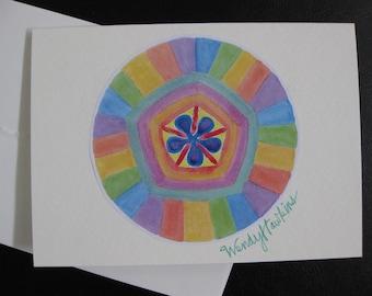 Sadness Within Mandala Blank Note Card