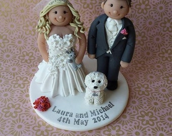 Personalised Wedding Cake Topper - Bride & Groom *FREE SHIPPING*