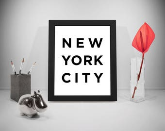New York, New York City, New York Print, New York Wall Art, New York Art