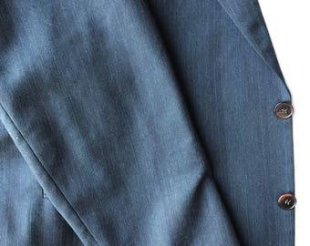C&R Clothiers Roma Charcoal/Black Men's Wool Jacket - Size 41/35L Sport Coat