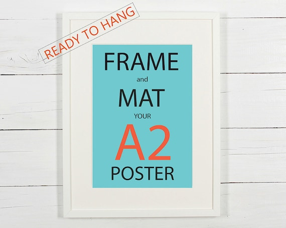 frame and mat your a2 poster white wooden frame with white