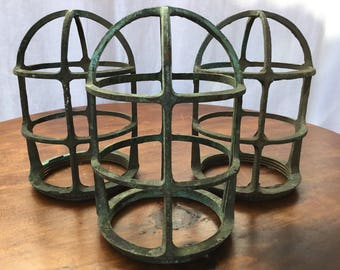 Vintage Brass Boat Light Cage R & S Co Nautical Maritime Steampunk Industrial