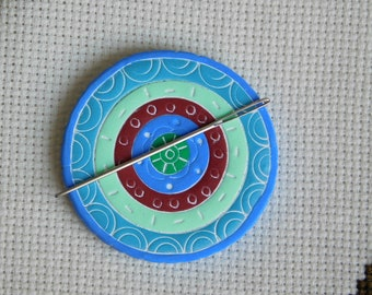 Needle Keeper, polymer clay needle minder, magnet