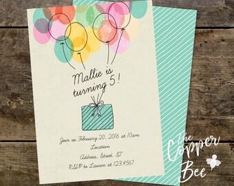 Simple Birthday - Invitation