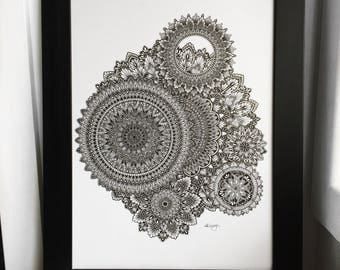 Mandala wall art- Mandala print - Wall decor