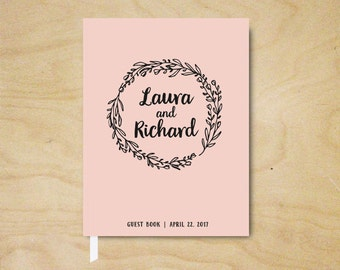 Wedding Guest Book, Personalized Guest Book for Weddings, Wedding Guestbook, Blush Guest Book, Hardcover Guest Book, Bridal Shower Gift Book