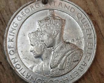 Vintage 1937 king George coronation medallion