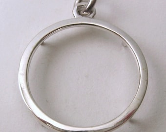 Genuine SOLID 925 STERLING SILVER Full Sovereign Coin Holder Pendant