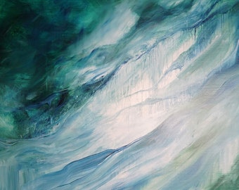 original abstract on canvas - Stirring Waters