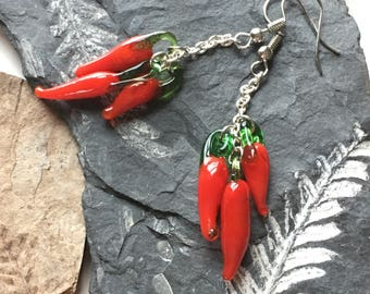 Strand of Pepper Earrings - Handmade Jewerly - Gifts for Her - Southwest Style - Ready to Ship