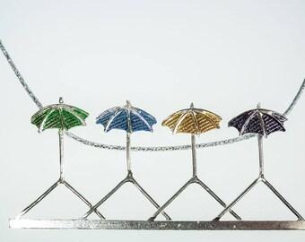 "Pendant ""4 seasons"" (green, blue, yellow, grey)"