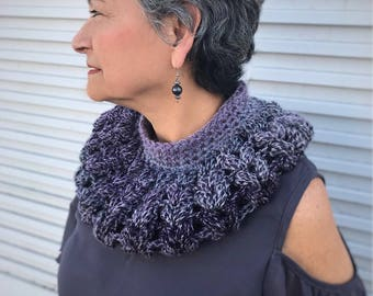 Handmade neckwear, accessory, cowl,crochet,Fashionable