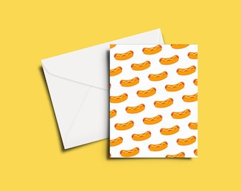 Hotdog Party Greeting Card