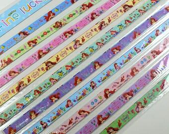 Little Mermaid Origami Lucky Star Paper Strips Star Folding DIY - Pack of 50 Strips