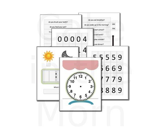 Clock File Folder Game Teaching Time Lesson Plan