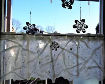 Felt Scheibengardine, window curtain, curtain, curtain