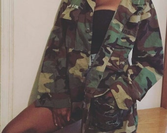 Eat Pray Slay Army Fatigue Camo Jacket