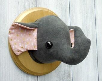 Elephant Faux Taxidermy Home Decor