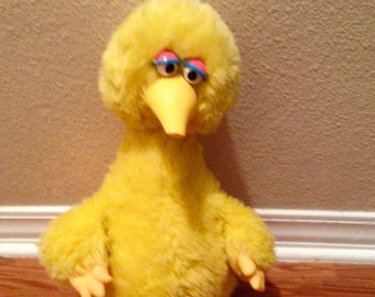 "Vintage Sesame Street BIG BIRD Story Magic Cassette Player, 1985 Toy 24"" Long"