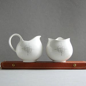 1950s Eva Zeisel Hallcraft Tomorrowu0027s Classics Fantasy Cream Sugar Bowl Set  Midcentury Design Icons 50s Vintage