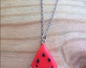Kawaii Watermelon Slice Necklace