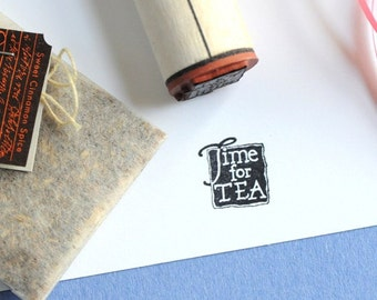 Time for Tea Rubber Stamp
