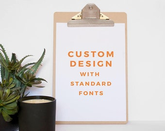 Custom Design Quote Print - Real Foil Print - Wall art-Real Copper Foil Quote Print - Gold Foil Print - Custom Foil Print - Custom Design